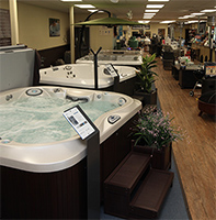 superior hearth spas and leisure hot tubs store interior