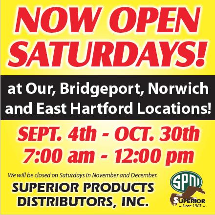 Now Open Saturdays!